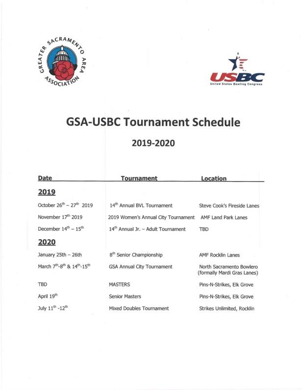 2019-20 Tournaments